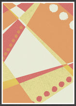Load image into Gallery viewer, Sunset Pattern Geometric Print in a frame
