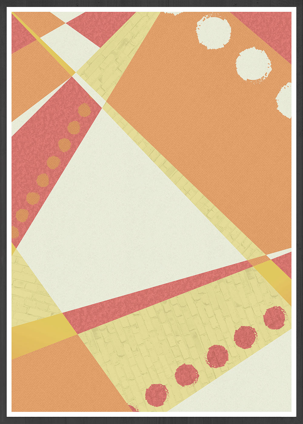 Sunset Pattern Geometric Print in a frame
