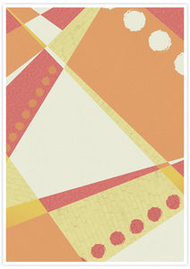 Sunset Pattern Geometric Print with no frame