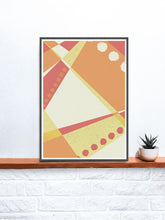 Load image into Gallery viewer, Sunset Pattern Geometric Print on a shelf