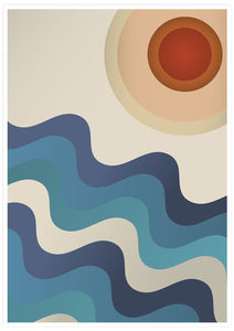 Sunshine Ocean Retro Art Print