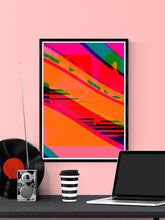 Load image into Gallery viewer, Supernova Abstract Digital Art in a frame on a wall