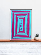 Load image into Gallery viewer, Tada! Unusual Artwork Quirky Print on a Shelf