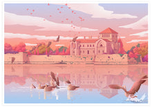 Load image into Gallery viewer, Tata Castle Hungary Landscape Illustration