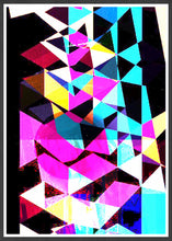 Load image into Gallery viewer, Technicolour Colourful Art Print in a frame