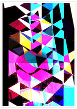 Load image into Gallery viewer, Technicolour Colourful Art Print no frame