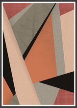Load image into Gallery viewer, Terracota Tiles Geometric Triangle Print in a frame