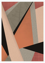 Load image into Gallery viewer, Terracota Tiles Geometric Triangle Print in no frame