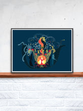 Load image into Gallery viewer, The Arc Illustration Graphic Print in a frame on a shelf