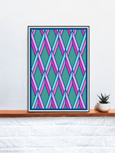 Load image into Gallery viewer, The Candy Stained Glass Graphic Print on a Shelf