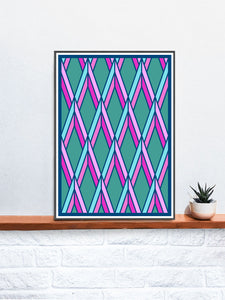 The Candy Stained Glass Graphic Print on a Shelf
