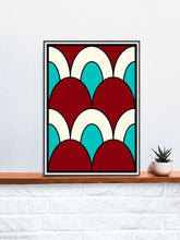 Load image into Gallery viewer, The Cherry Arch Pattern Print on a Shelf