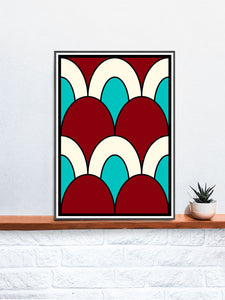 The Cherry Arch Pattern Print on a Shelf