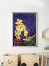Load image into Gallery viewer, The Edge of the World Nursery Art Print in kids bedroom