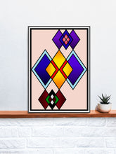 Load image into Gallery viewer, The Ego Diamond Art Print on a Shelf