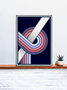 The Fluid 1  Retro Spiral Prints on a Shelf
