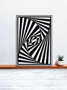 The Hypnosis Trippy Abstract Art on a Shelf