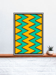 The Landscape Zig Zag Artworkon a Shelf
