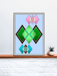 The Life Stained Glass Print on a Shelf
