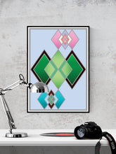 Load image into Gallery viewer, The Life Stained Glass Print on a Wall