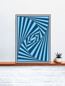 The Nightmare Trippy Abstract Art Print on a Shelf