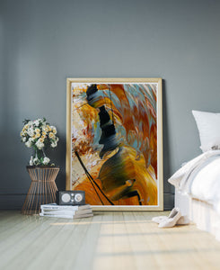 The Play Abstract Art Print in a stylish room