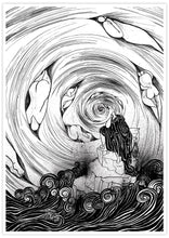 Load image into Gallery viewer, The Thinker Surreal Illustration Print not in a frame