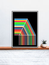 Load image into Gallery viewer, The Waterfall Retro Pattern Print on a Shelf