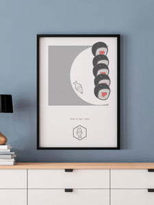 This is How I Roll Food Art Print in a frame on a wall