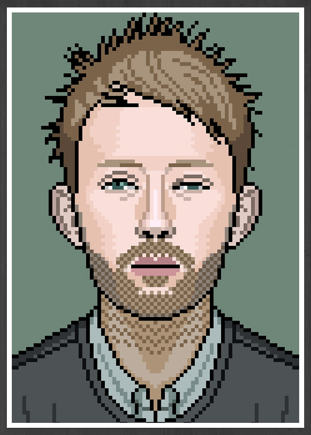 Thom Radiohead Art illustration in frame