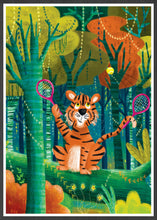 Load image into Gallery viewer, Tiger Illustration Wall Art in a frame