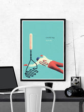 Load image into Gallery viewer, Tluczka Quirky Kitchen Art Print in a frame on a wall