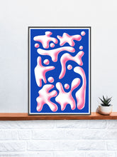 Load image into Gallery viewer, Tlum Modern Surreal Art Print in a frame on a shelf