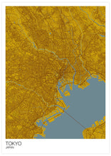 Load image into Gallery viewer, Tokyo City Map Print not in a frame
