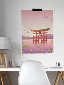 Itsukushima Shrine Torii Gate Print