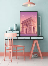 Load image into Gallery viewer, Arc de Triomphe Poster Print on a desk