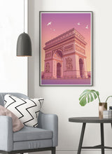 Load image into Gallery viewer, Arc de Triomphe Poster Print in a traditional room