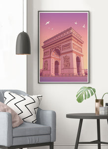 Arc de Triomphe Poster Print in a traditional room