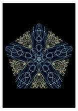 Load image into Gallery viewer, Tron Kaleidoscope Print not in a frame