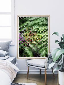 Tropicalia 3 Poster Print with Palm Leaves