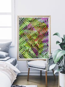 Tropicalia 7 Tropical Leaves Poster Art