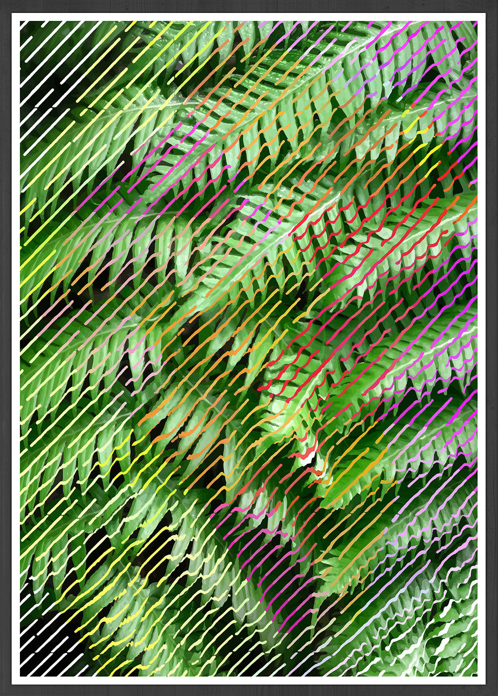 Tropicalia 13 Glitch Art Print