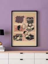 Load image into Gallery viewer, Typewrong Song Retro Poster in a frame on a wall