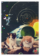 Load image into Gallery viewer, Vega Starcats Retro Cats Print not in a frame
