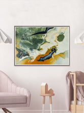 Load image into Gallery viewer, Walk Fine Art Print in a nice bedroom interior
