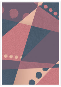 Warm but Cold Geometric Dots Art Print in no frame