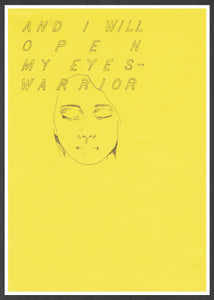 Warrior Contemporary Wall Art in a frame