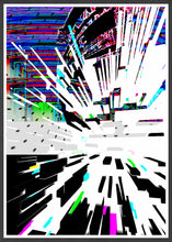 Load image into Gallery viewer, Watch Tower Glitch Poster Print in frame