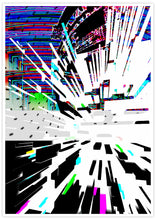 Load image into Gallery viewer, Watch Tower Glitch Poster Print with no frame