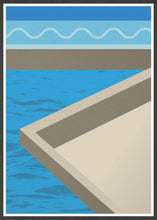 Load image into Gallery viewer, The Water Below Geometric Shape Art in a frame
